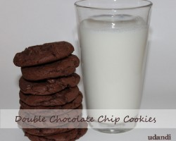 Double chocolate chip cookies | udandi.com