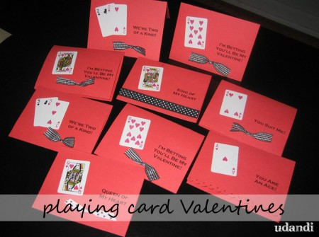 Make It Playing Card Valentines – Valentine Playing Cards