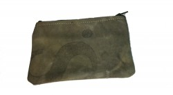 upcycled mail sack coin pouch from uncommon goods