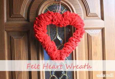felt heart wreath by udandi