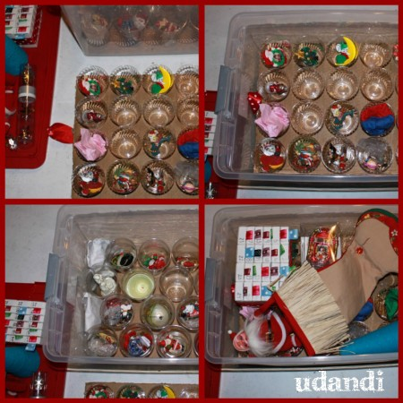 udandi homemade ornament storage box