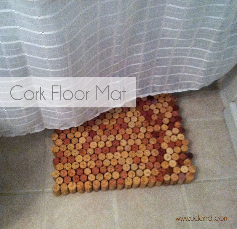 how to make a wine cork floor