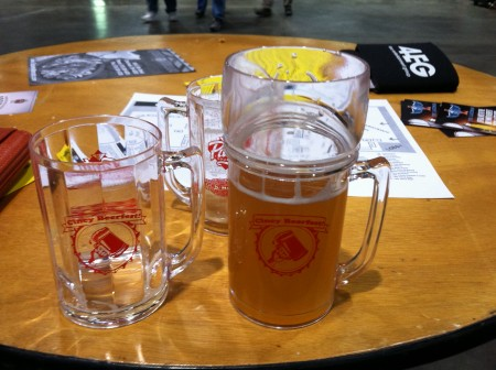 Regular and VIP glasses at CIncy Winter Beefest by udandi.com