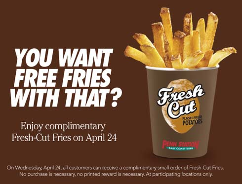 free small fries at Penn Station