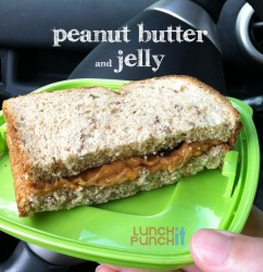 Peanut Butter and Jelly sandwich by LunchItPunchIt.com