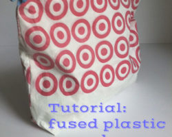 Tutorial fused plastic sewn bags udandi.com
